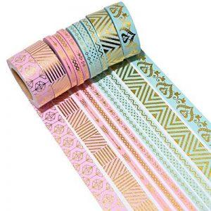K-LIMIT 10 Set Washi Tape rouleaux de ruban adhésif décoratif masking tape Washitape Scrapbooking DIY Noël Christmas Idées cadeaux Idées cadeaux 6166 de la marque k-limit image 0 produit