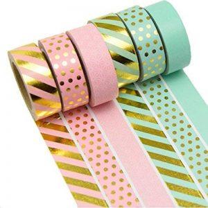 K-LIMIT 6 Set Washi Tape rouleaux de ruban adhésif décoratif masking tape Scrapbooking DIY 9156 de la marque k-limit image 0 produit