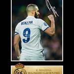 Karim BENZEMA cadre photo dédicacé Real Madrid CF de la marque STYCKSWEET image 1 produit