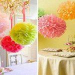 KEEKA Lot de 8. Vert Clair Pompoms Papier fleurs DIY Décoration pour Fête d'Anniversaire Mariage de la marque KEEKA image 3 produit