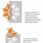 Kerala Mandala indien circulaire murale meubles Sol Pochoir (100cm) de la marque Dizzy Duck Designs image 2 produit