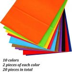 Keriber 20Pcs Paper Party sac cadeau Sac Kraft papier sac avec poignée pour anniversaire, Tea Party, mariage, célébrations, couleurs colorées de la marque Keriber image 2 produit