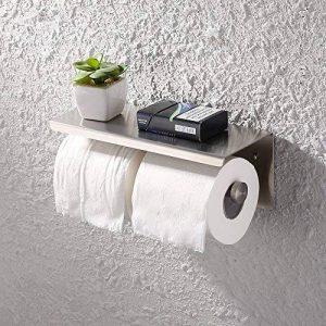 KES Toilette Double Rouleau Porte-rouleaux/Porte-papier Hygiénique Support Mural SUS 304 En Acier Inoxydable, Brossé, BPH201S2-2 de la marque Kes image 0 produit