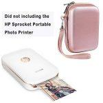 Kit d'accessoires d'imprimante photo portative de pignon de Katia pour HP X7N07A, Imprimante mobile Polaroid ZIP / Imprimer des photos de médias sociaux avec un étui rigide, un album de calendrier, des cadres, 2x3 collants- Or de la marque Katia image 3 produit