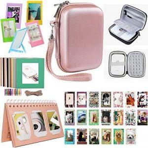 Kit d'accessoires d'imprimante photo portative de pignon de Katia pour HP X7N07A, Imprimante mobile Polaroid ZIP / Imprimer des photos de médias sociaux avec un étui rigide, un album de calendrier, des cadres, 2x3 collants- Or de la marque Katia image 0 produit