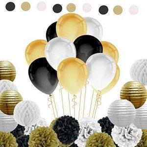 Kit de 82 Pieces Décoration Fleurs de Papier Crépon Ballon Mariage Helium Noël Fête Anniversaire de la marque IMMIGOO image 0 produit