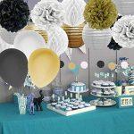 Kit de 82 Pieces Décoration Fleurs de Papier Crépon Ballon Mariage Helium Noël Fête Anniversaire de la marque IMMIGOO image 2 produit