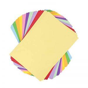 Kit de papier de bricolage–Ton Papier A4, couleurs assorties–100feuilles 130g/m² de la marque EAST-WEST Trading GmbH image 0 produit