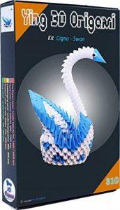 Kit origami 3D Cygne/Swan – 310 pièces carton de 1/32 sur base A4 + DVD tutoriel vidéo dans italien & Anglais – zwischendurch de la marque Ying 3D Origami image 0 produit