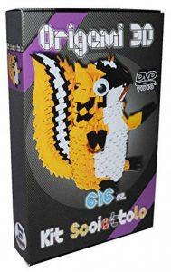 Kit Origami 3d écureuil/Squirrel – 616 de fils de Papier cartonné égal à 1/32 sur base A4 + DVD video-tutorial en italien & anglais – niveau difficile de la marque Ying 3D Origami image 0 produit
