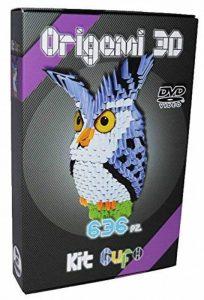 Kit Origami 3d Hibou/Owl – 636 de fils de Papier cartonné égal à 1/32 sur base A4 + DVD video-tutorial en italien & anglais – niveau difficile de la marque Ying 3D Origami image 0 produit