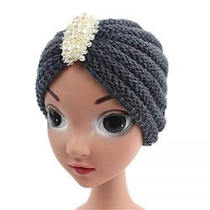 Knit Hats Beanies Skullies cap,Automne Hiver enfants bonnet fait main tricot couvre jusqu'hat Turban avec bijoux de perles de 3 à 8 ans cadeau idéal pour Noël et d'anniversaire de l'action de Ski Snowboard de la marque NONGNIML Hats image 0 produit