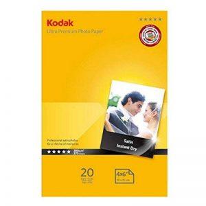 Kodak Papier photo premium 20 feuilles pour imprimante à jet d'encre Satin 280 g A6 de la marque Kodak image 0 produit
