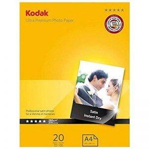 Kodak Papier photo satin de haute qualité pour impression jet d'encre 20feuilles A4 280g de la marque Kodak image 0 produit