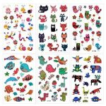 Konsait 160pcs tatouages temporaire tatoo pour enfants fille garçons, Étanche Tatouages éphémères fleur Papillon animaux pour enfants de fête d'anniversaire cadeau de la marque Konsait image 2 produit