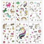 Konsait 300 x 72 x tatouages temporaires de licornes, tatouages ephémères enfants,anniversaire licorne d'enfant, petit cadeau pinata, motifs avec accessoired de licornes pour filles de la marque Konsait image 2 produit
