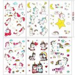 Konsait 300 x 72 x tatouages temporaires de licornes, tatouages ephémères enfants,anniversaire licorne d'enfant, petit cadeau pinata, motifs avec accessoired de licornes pour filles de la marque Konsait image 1 produit