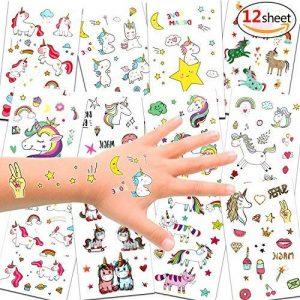 Konsait 300 x 72 x tatouages temporaires de licornes, tatouages ephémères enfants,anniversaire licorne d'enfant, petit cadeau pinata, motifs avec accessoired de licornes pour filles de la marque Konsait image 0 produit