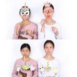 Konsait paillettes Licorne Accessoires Photobooth Anniversaire Masquerade Accessoires de Photo props pour enfants filles licorne anniversaire decoration de fete cadeau de la marque Konsait image 2 produit