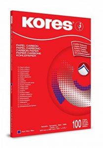 Kores 1200 Papier Carbone DIN A4 100 feuilles Bleu de la marque Kores image 0 produit