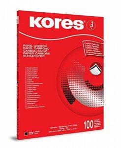 Kores Papier Carbone DIN A4 1200 100 feuilles Noir de la marque Kores image 0 produit