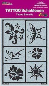 KREUL Hobby Line Tattoo Pochoir soleil, fleurs, papillons, 1pièce de la marque KREUL image 0 produit