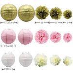 KUNGYO Papier de soie pompons Kit Fleurs lanternes en papier pour fêtes de mariage Décorations 16 PCS de la marque KUNGYO image 1 produit