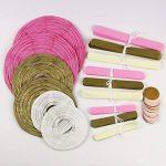 KUNGYO Papier de soie pompons Kit Fleurs lanternes en papier pour fêtes de mariage Décorations 16 PCS de la marque KUNGYO image 2 produit