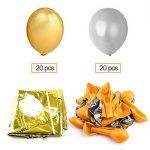 KUUQA Joyeux Anniversaire Ballon Bannière Lettres d'Or En Aluminium Film Ballon avec 40 Pcs Ballons pour les Décorations de Fête D'anniversaire, Articles De Fête de la marque KUUQA image 1 produit