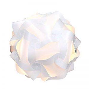 kwmobile Lampe puzzle abat-jour - Luminaire IQ plafond ou chevet - Lumière blanche - Taille M - Montage 30 pièces 15 modèles - Diamètre env. 27 cm de la marque kwmobile image 0 produit