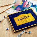 L'Aquarelle Canson Héritage Bloc collé 4 côtés 20 feuilles grain fin 300 g 18 x 26 cm Blanc de la marque Canson image 4 produit