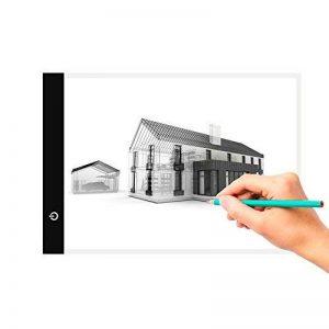 L&HM 5mm Ultre-Mince A4 LED Table À Dessin/Tablette Lumineuse/LED Copy Light Box avec 3 Niveaux de Luminosité Réglables avec Câble USB pour Dessiner de la marque L&HM image 0 produit