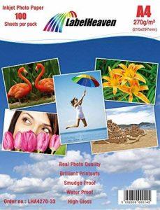 LabelHeaven - 100 Feuilles Papier Photo A4 Premium Haute Brillance 270g de la marque LabelHeaven image 0 produit