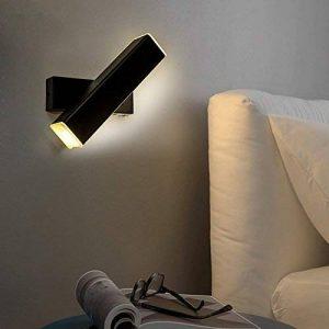 Lampe Murale moderne minimaliste de chevet chambre à coucher salon allée créative étude lampe applique murale lire gradation rotation,32mm, grain de bois, Wu ji la gradation de la marque LzxcJ image 0 produit
