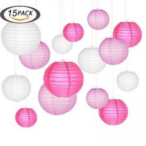 lampions, Smaluck 15Packs chinois Lanterne ronde papier Décorations à suspendre avec assortiment de couleurs et de tailles pour un anniversaire de mariage Mariage Baby Shower Festival Décorations de fête de la marque SMALUCK image 0 produit