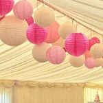 lampions, Smaluck 15Packs chinois Lanterne ronde papier Décorations à suspendre avec assortiment de couleurs et de tailles pour un anniversaire de mariage Mariage Baby Shower Festival Décorations de fête de la marque SMALUCK image 4 produit