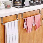 LanLan Porte-serviette de porte en acier inoxydable de cuisine Crochet de tissu de chiffon sans tige simple Rod de la marque LanLan image 3 produit