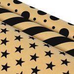 LaRibbons Papier Cadeau - 75 sq ft. - Etoiles / Stripes / Dots Print - Vendu 3Pcs de la marque LaRibbons image 1 produit