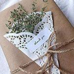LaRibbons Papier d'emballage Kraft Brun / Naturel, 50 cm de Large par 20 m par Rouleau de la marque LaRibbons image 3 produit