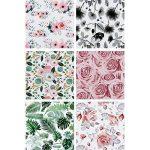 LaRibbons Rouleau de papier d'emballage cadeau - 76 x 305 cm chaque rouleau - imprimé floral pour le mariage, fête des mères, cadeaux d'anniversaire Wrap - 6 rouleaux de la marque LaRibbons image 2 produit