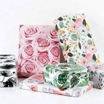 LaRibbons Rouleau de papier d'emballage cadeau - 76 x 305 cm chaque rouleau - imprimé floral pour le mariage, fête des mères, cadeaux d'anniversaire Wrap - 6 rouleaux de la marque LaRibbons image 1 produit