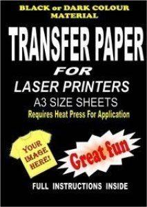 Laser & photocopieuse t-shirt homme & papier transfert pour textile foncé 5 a3. de substances. de la marque Madaboutink image 0 produit