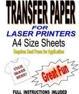 Laser & photocopieuse t-shirt pour homme en tissu & inkjets de papier report pour 30 feuilles a4 de la marque Madaboutink image 0 produit