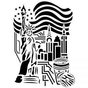 Laser Pochoir en plastique, DIN A4, motif | créatifs de New York de conception, Textile, papier, scrapbooking de la marque Ideen mit Herz image 0 produit