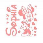Le nom et Mickey Mouse de l'autocollant personnalisé de mur autocollant. Autocollant de mur de Minnie mouse sticker. Sticker mural avec le nom d'un enfant et Mickey Mouse. Une belle décoration murale avec le nom d'un enfant. Autocollant de mur de souris d image 1 produit