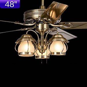 Le paysage Restaurant Salon lustre ancien communautés ventilateur Ventilateur fers voyant feuille (Design: Control-48 pour dessiner des douanes) de la marque FGGR GERGRE image 0 produit