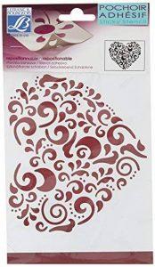 Lefranc Bourgeois Peinture Pochoir 15 x 20 cm Cœur Blanc de la marque Lefranc & Bourgeois image 0 produit