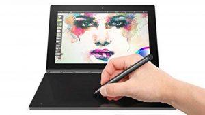 "Lenovo Yoga Book Tablette Tactile Hybride 10"" FHD Noir Carbone (Intel Atom, 4 Go de RAM, Disque Dur 64 Go, Windows 10 Pro) de la marque Lenovo image 0 produit"