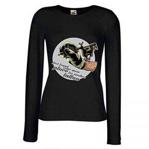 lepni.me Manches Longues Femme T-Shirt Aerographe - Machine D'Encre de Tatouage, Еvery Inch est Tatoué, Conseils Frais, Vêtements de Fan, Idées de Cadeau D'Humour de la marque lepni.me image 0 produit