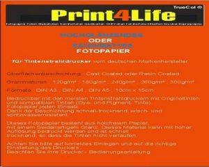 Les deux faces 50 feuilles de papier photo A3 260g /m² brillant résistant à la lumière étanche jusqu'à 9600 dpi imprimable de la marque trucol image 0 produit